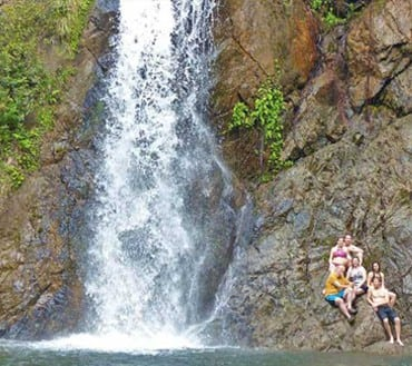 belize waterfall