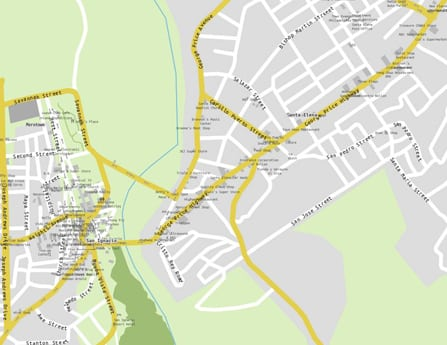 downtown san ignacio map