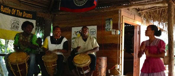 drumming in hopkins village