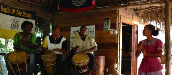 drumming in hopkins village