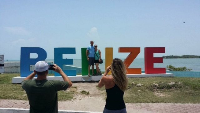 Belize sign monument