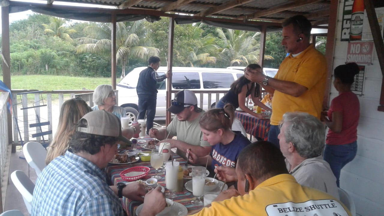 Belize Shuttle Group Lunch