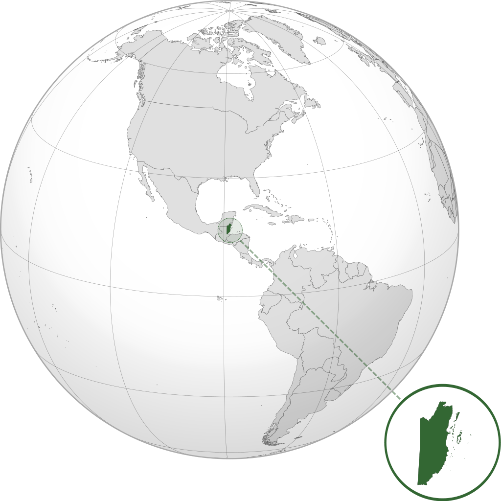 where is belize on a map